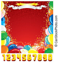 Birthday Greeting Card. Vector Template for Design