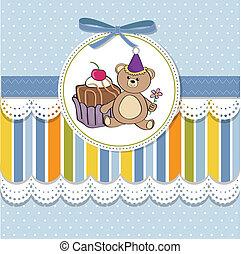 birthday greeting card with cake