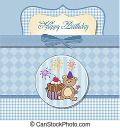birthday greeting card with cake
