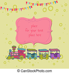 Birthday Greeting Card with Photo Frame and place for your text - in vector