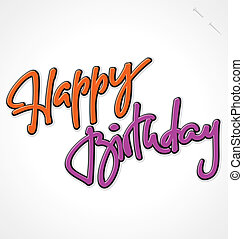 BIRTHDAY hand lettering (vector)