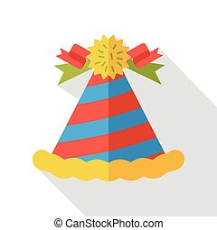 birthday hat flat icon
