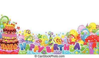 Birthday horizontal composition