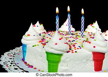 Birthday Ice Cream Cone Cake