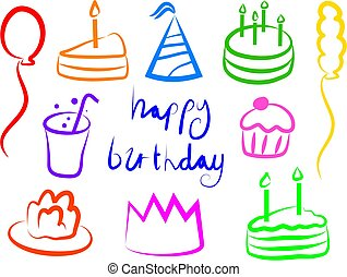 Birthday Icons - simple icons for birthday occasions