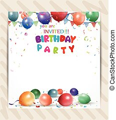 Birthday party invitation background image and illustration birthday invitation background stopboris Image collections