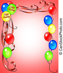 Birthday invitation Balloons