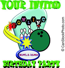 birthday invite in 3d