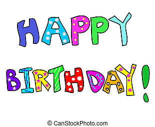 birthday!, kleurrijke
