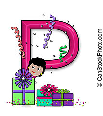 "Birthday Letters P - P, in the alphabet set ""Birthday..."