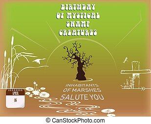 Birthday mystical swamp creatures