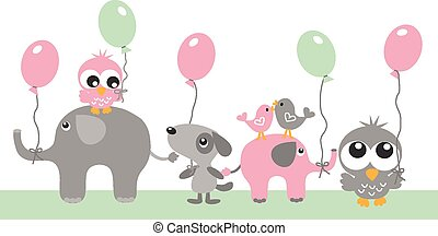 happy birthday or other celebration baby shower header or banner