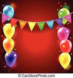 Birthday or party vector background