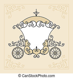 fairytale carriage - birthday or wedding invitation design...