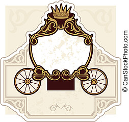 fairytale carriage - birthday or wedding invitation design...