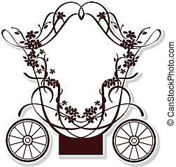 fairytale carriage - birthday or wedding invitation design ...
