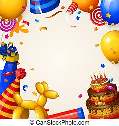 Birthday party background with balloons.