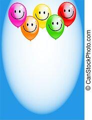 Birthday Party Balloon Border