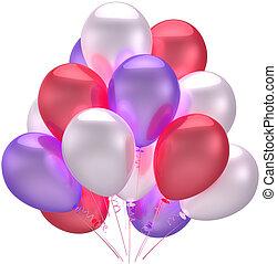 Birthday party balloons decoration