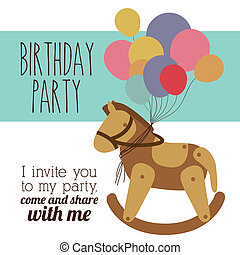 Birthday party design,vector illustration