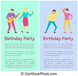 Birthday Party Collection Vector Illustration