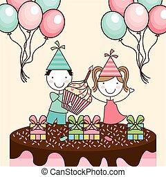 birthday party design, vector illustration eps10 graphic