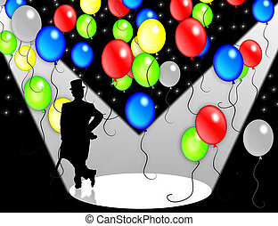 Birthday Party invitation - Birthday Balloons illustration...
