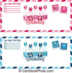 Birthday Party Invitation Envelope
