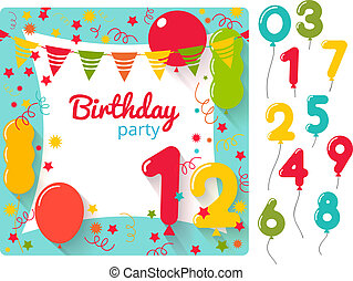 Birthday Party Invitation  Birthday Party Card Template
