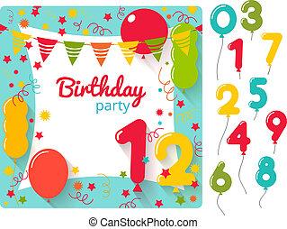 Birthday party invitation a vector illustration of a birthday party birthday party invitation vector birthday party invitation card design filmwisefo