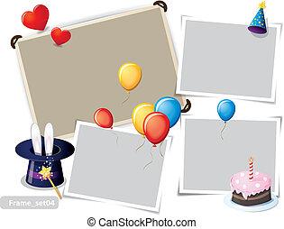 Birthday party photo frames