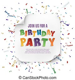 Birthday party poster template.