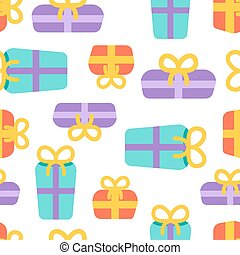 Birthday party seamless pattern