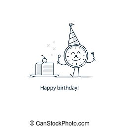 Birthday party, slice of cake, fun time