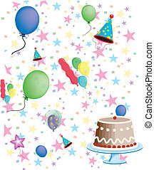 Birthday party Stationary Vector