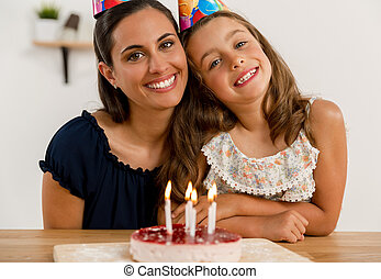 Birthday party with my mom