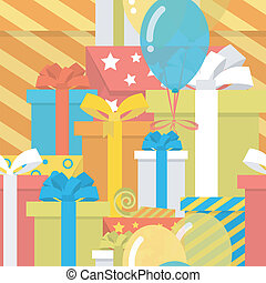 Birthday Pattern with Gifts