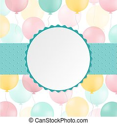 Birthday Postcard, With Gradient Mesh, Vector Illustration