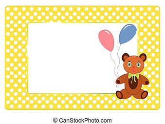 Birthday postcard with place for your text.