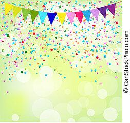 Birthday Poster, Vector Background