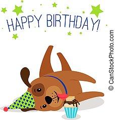 Birthday puppy portrait