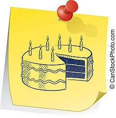 Birthday reminder sketch