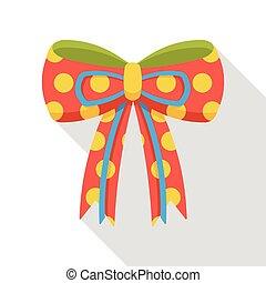 birthday ribbon flat icon