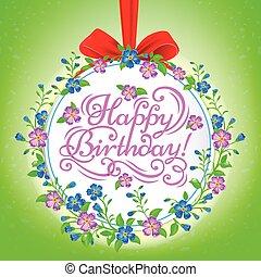 Birthday round banner