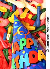 Birthday scene 8 - Birthday scene - hat and balloons