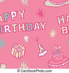 Birthday Seamless Pattern