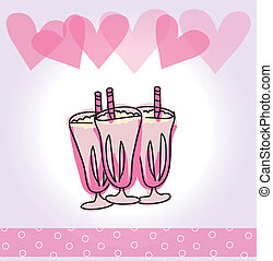birthday sorbet over lilac background vector illustration