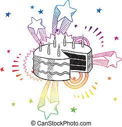 Birthday surprise sketch