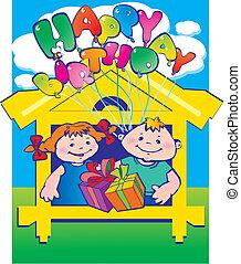 birthday., szczęśliwy