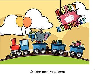 Birthday train locomotive